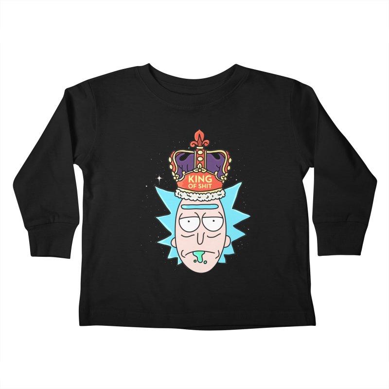 King of Shit Kids Toddler Longsleeve T-Shirt by darruda's Artist Shop