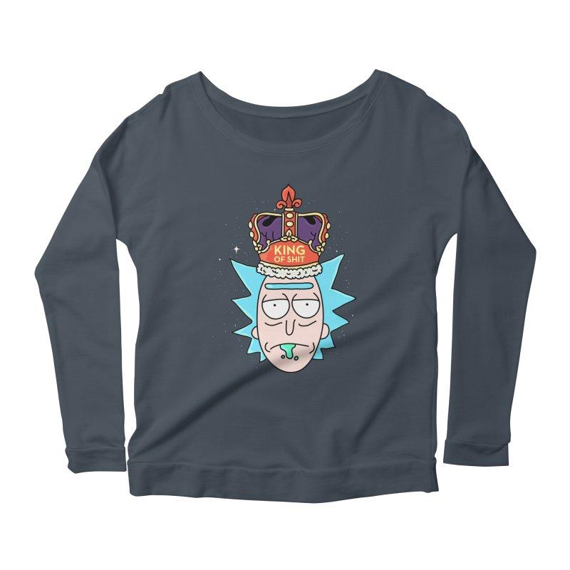 King of Shit Women's Scoop Neck Longsleeve T-Shirt by darruda's Artist Shop