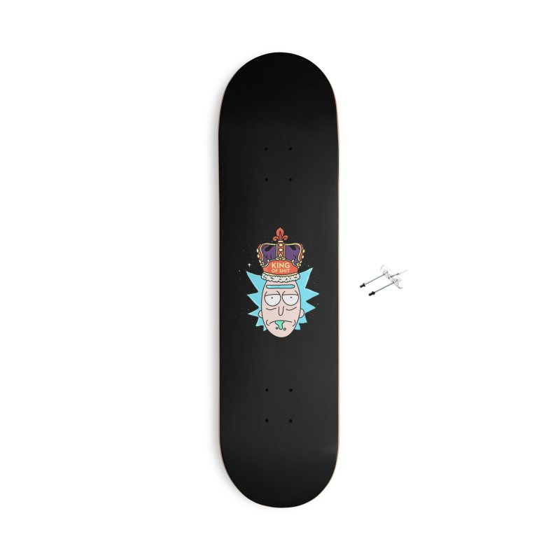 King of Shit Accessories With Hanging Hardware Skateboard by darruda's Artist Shop