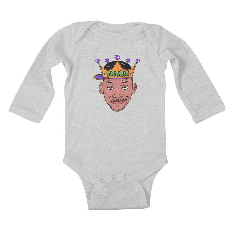 Fresh Prince Kids Baby Longsleeve Bodysuit by darruda's Artist Shop