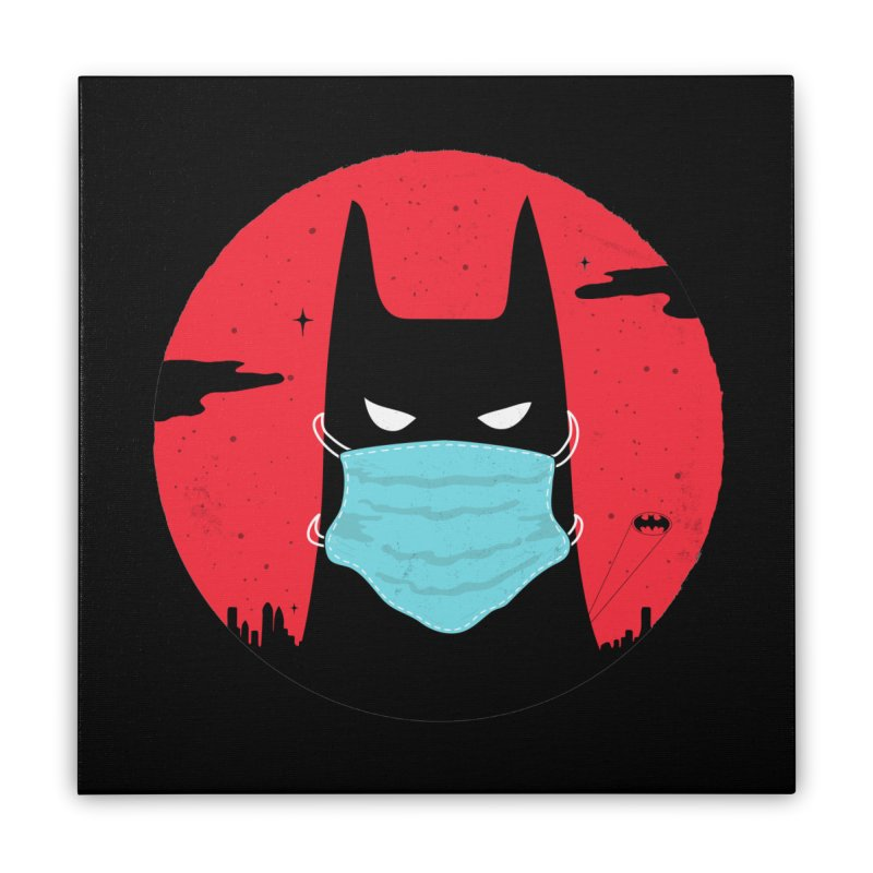 Masked Hero Home Stretched Canvas by darruda's Artist Shop