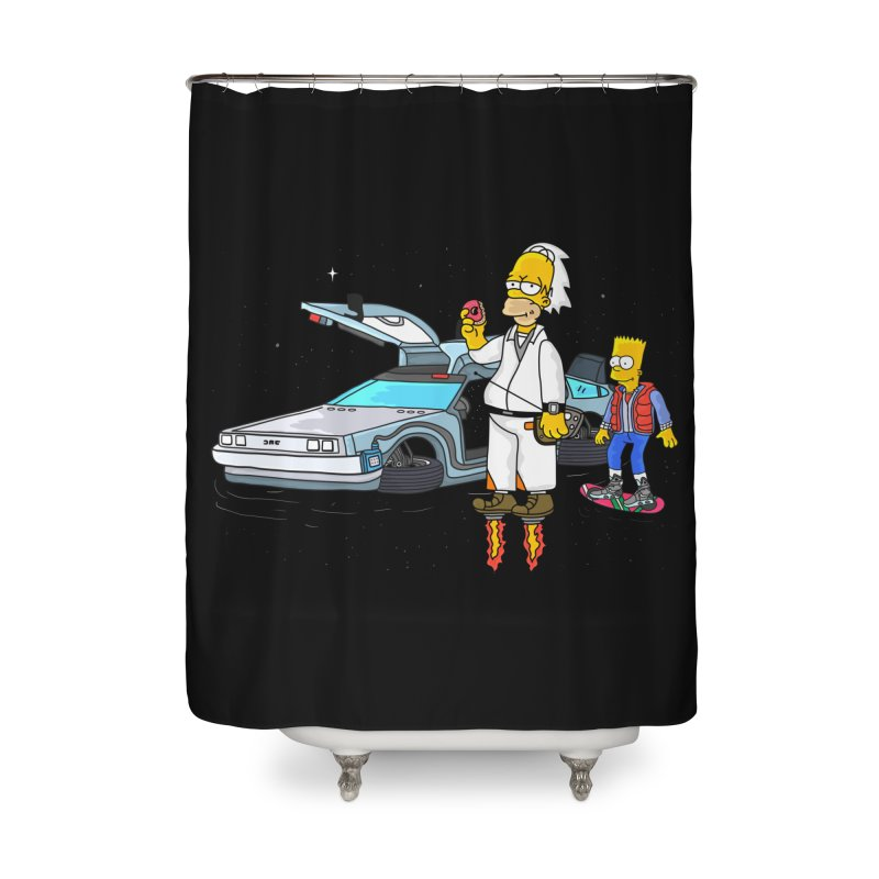 Back to the Space Home Shower Curtain by darruda's Artist Shop