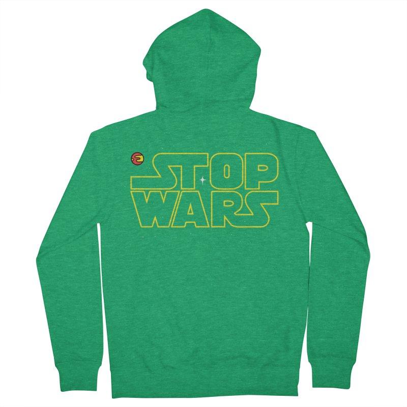 Stop Wars Men's Zip-Up Hoody by darruda's Artist Shop
