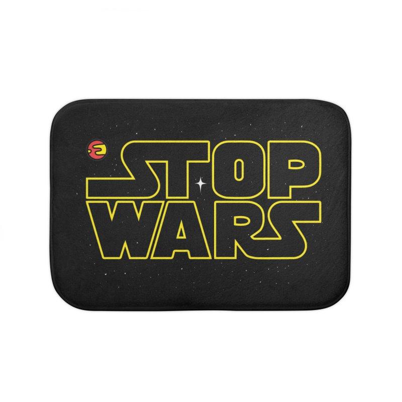 Stop Wars Home Bath Mat by darruda's Artist Shop