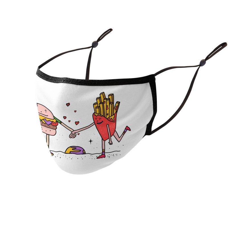 Burger & Fries Accessories Face Mask by darruda's Artist Shop