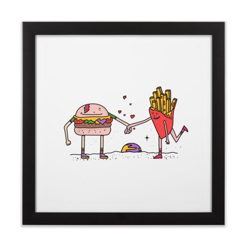 Burger & Fries Home Framed Fine Art Print by darruda's Artist Shop