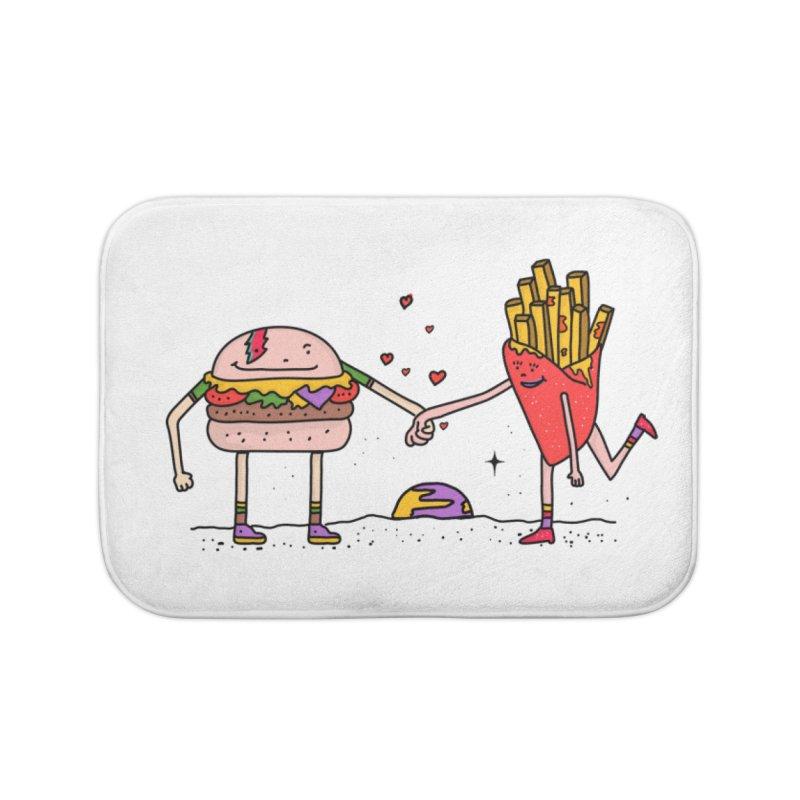 Burger & Fries Home Bath Mat by darruda's Artist Shop