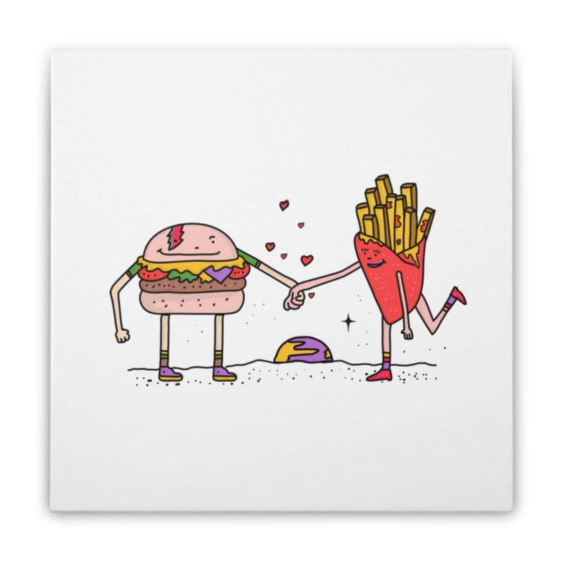 Burger & Fries Home Stretched Canvas by darruda's Artist Shop