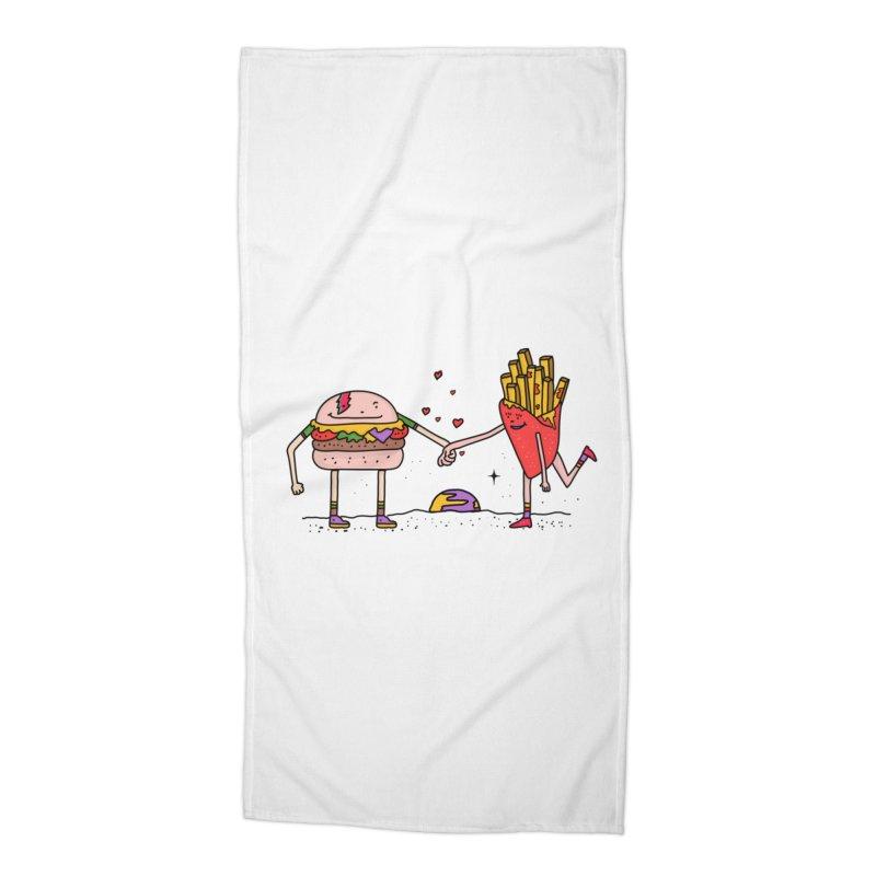 Burger & Fries Accessories Beach Towel by darruda's Artist Shop