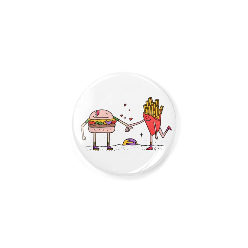 Burger & Fries Accessories Button by darruda's Artist Shop