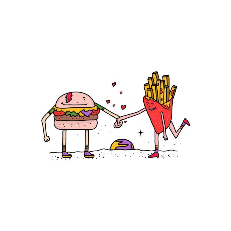 Burger & Fries Men's Zip-Up Hoody by darruda's Artist Shop
