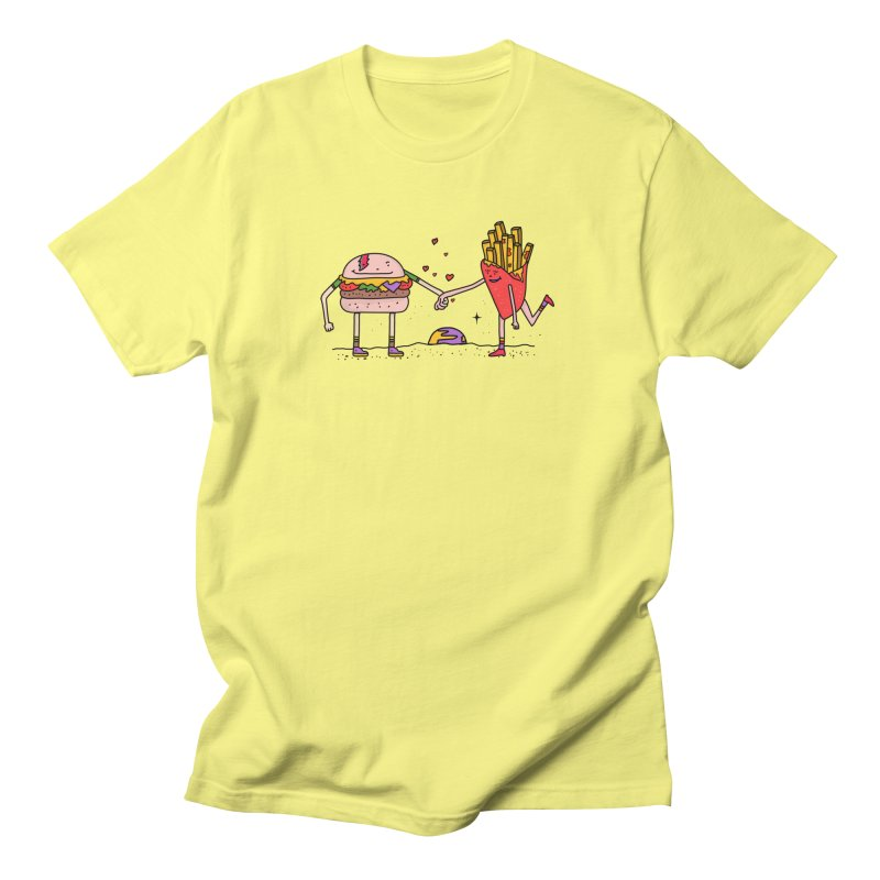 Burger & Fries Men's T-Shirt by darruda's Artist Shop