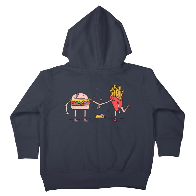 Burger & Fries Kids Toddler Zip-Up Hoody by darruda's Artist Shop