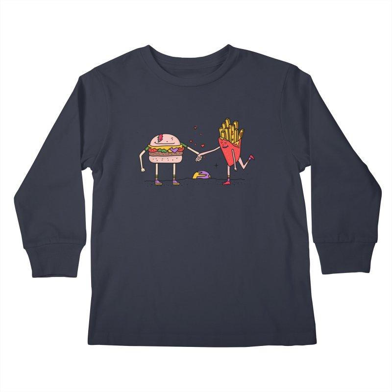 Burger & Fries Kids Longsleeve T-Shirt by darruda's Artist Shop