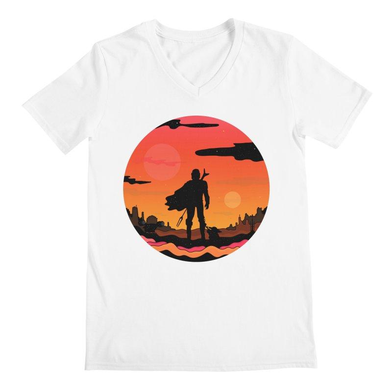 The Sunset Men's V-Neck by darruda's Artist Shop