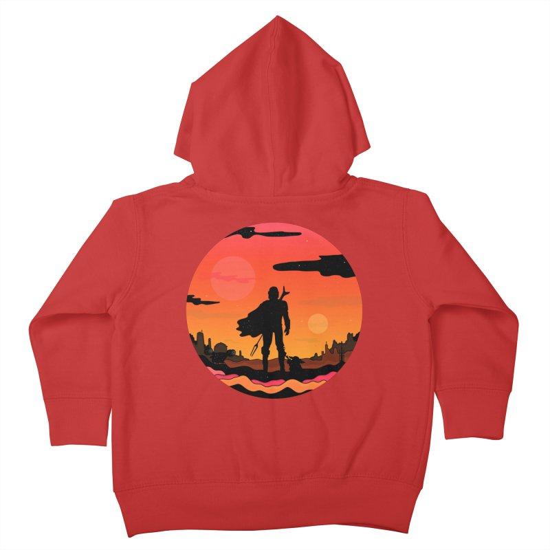 The Sunset Kids Toddler Zip-Up Hoody by darruda's Artist Shop
