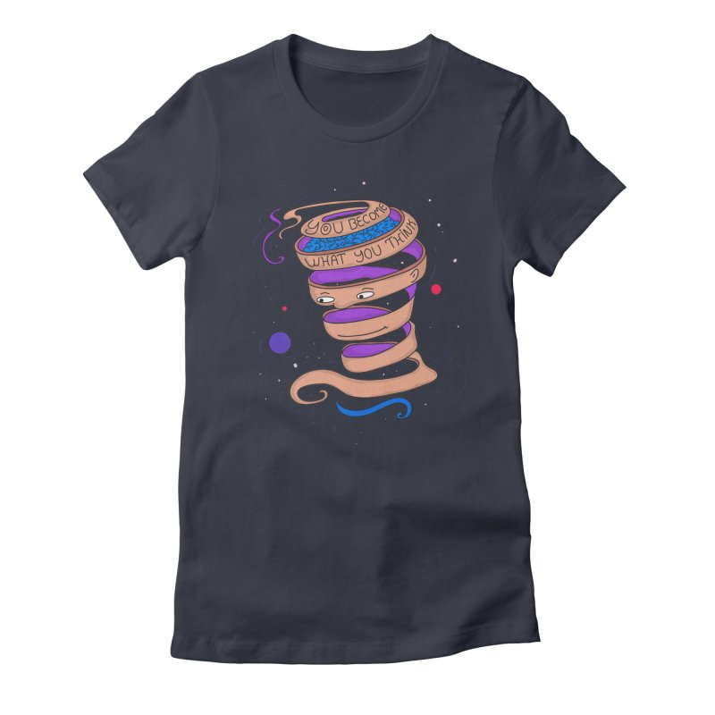 Become Women's Fitted T-Shirt by darruda's Artist Shop