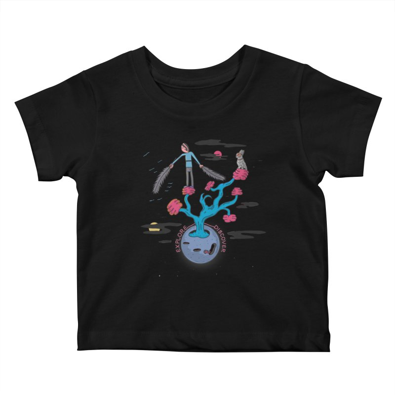 Explore, Discover Kids Baby T-Shirt by darruda's Artist Shop