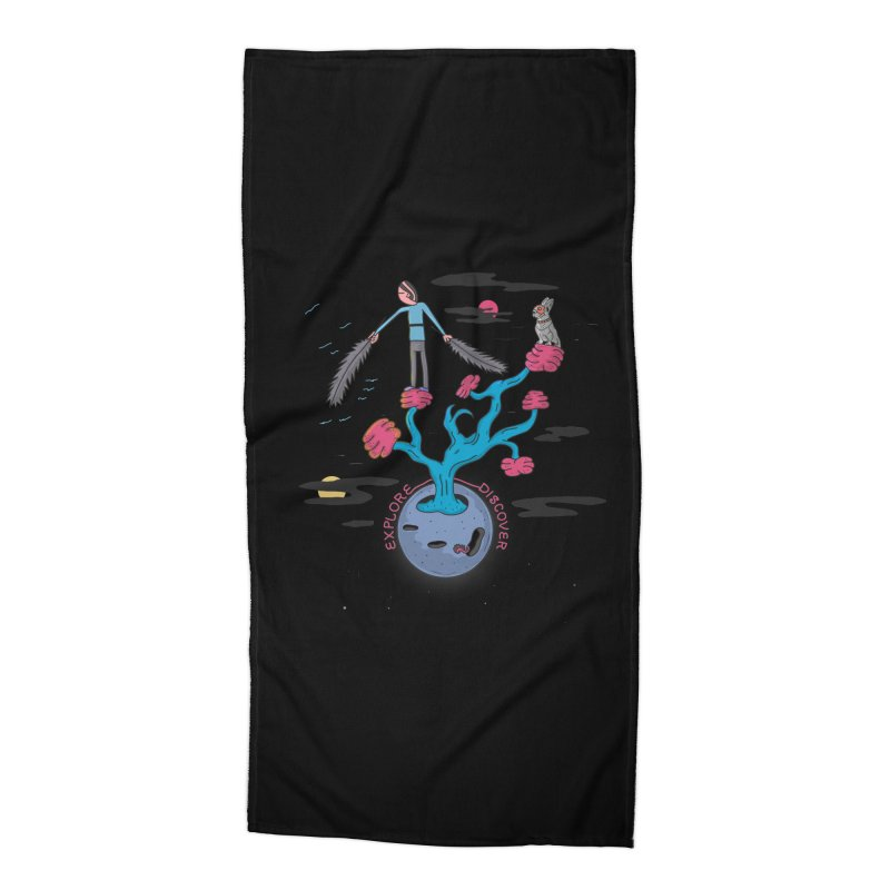 Explore, Discover Accessories Beach Towel by darruda's Artist Shop