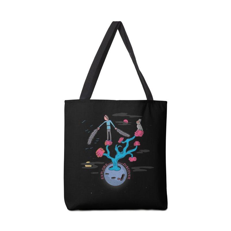 Explore, Discover Accessories Bag by darruda's Artist Shop