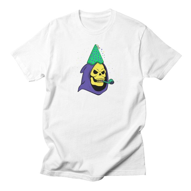 Skull Party in Men's T-shirt White by darruda's Artist Shop