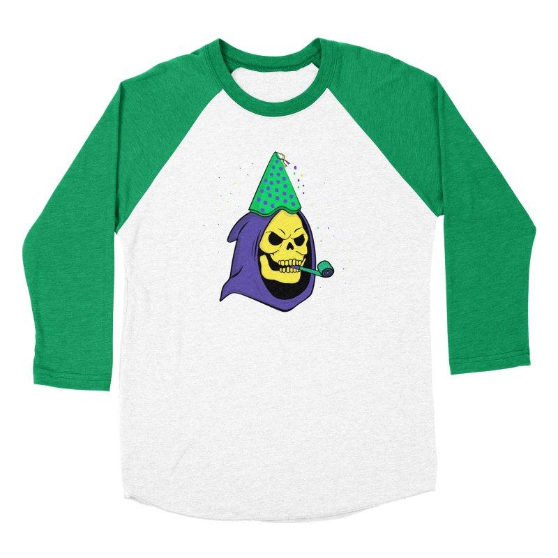 Skull Party Women's Baseball Triblend T-Shirt by darruda's Artist Shop