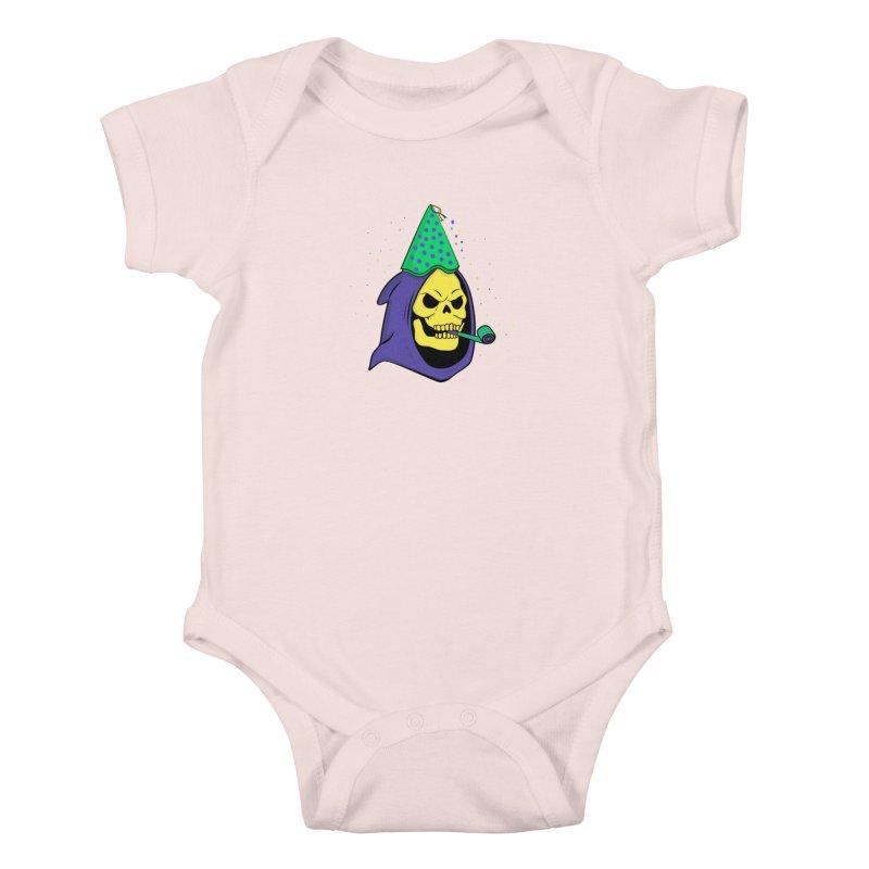 Skull Party Kids Baby Bodysuit by darruda's Artist Shop