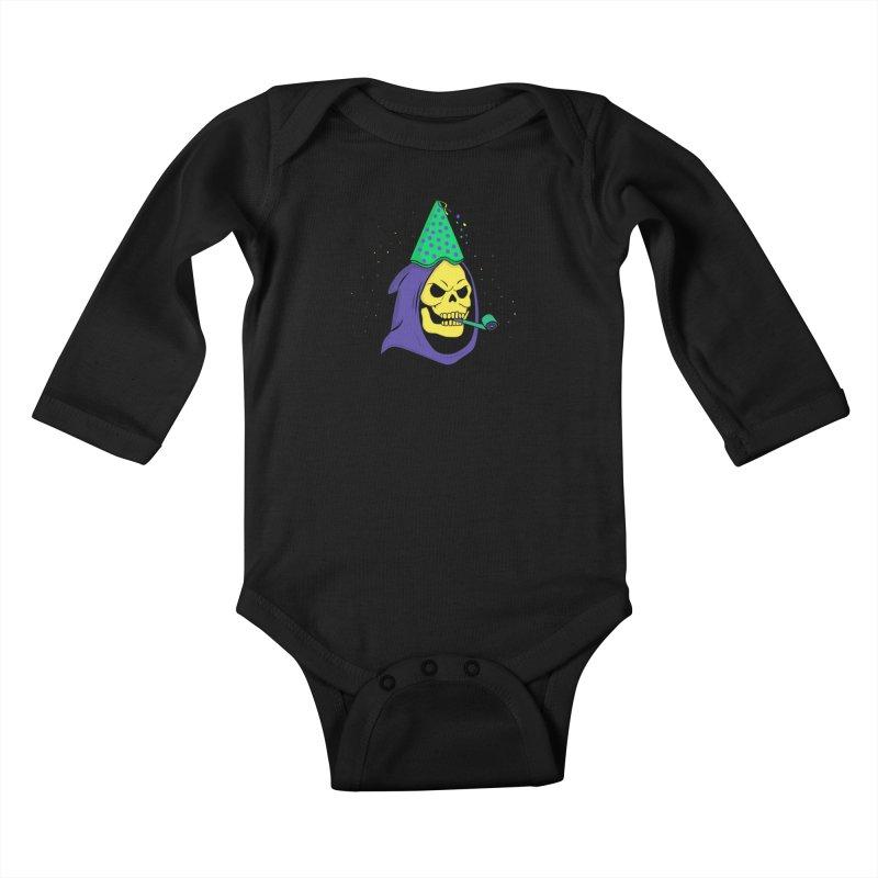 Skull Party Kids Baby Longsleeve Bodysuit by darruda's Artist Shop