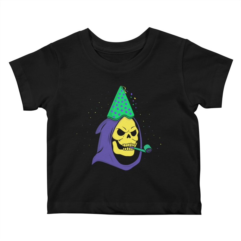 Skull Party Kids Baby T-Shirt by darruda's Artist Shop