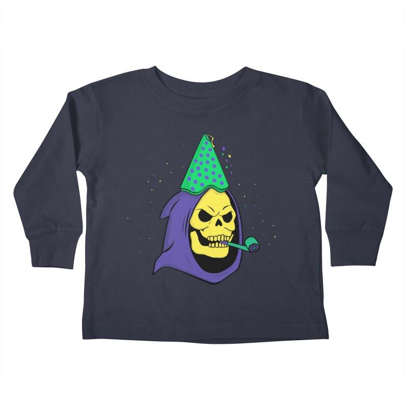 Skull Party Kids Toddler Longsleeve T-Shirt by darruda's Artist Shop