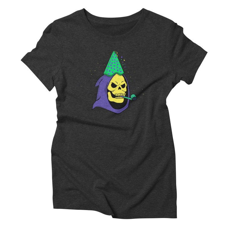 Skull Party Women's Triblend T-shirt by darruda's Artist Shop