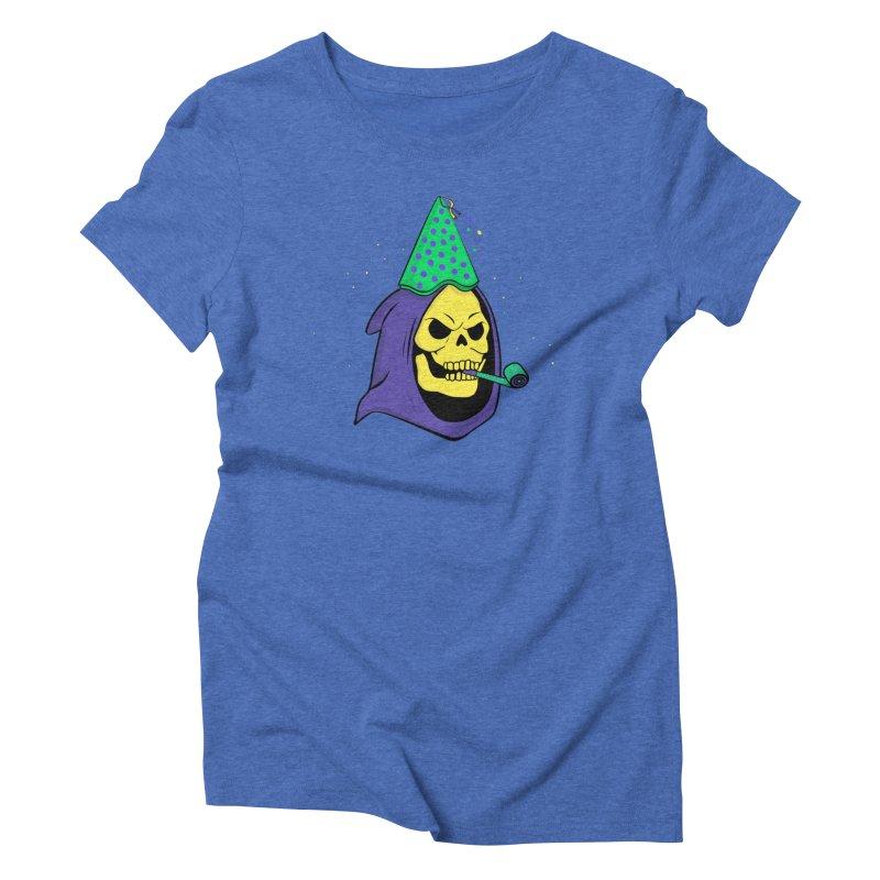 Skull Party Women's Triblend T-shirt by darruda's Artist Shop