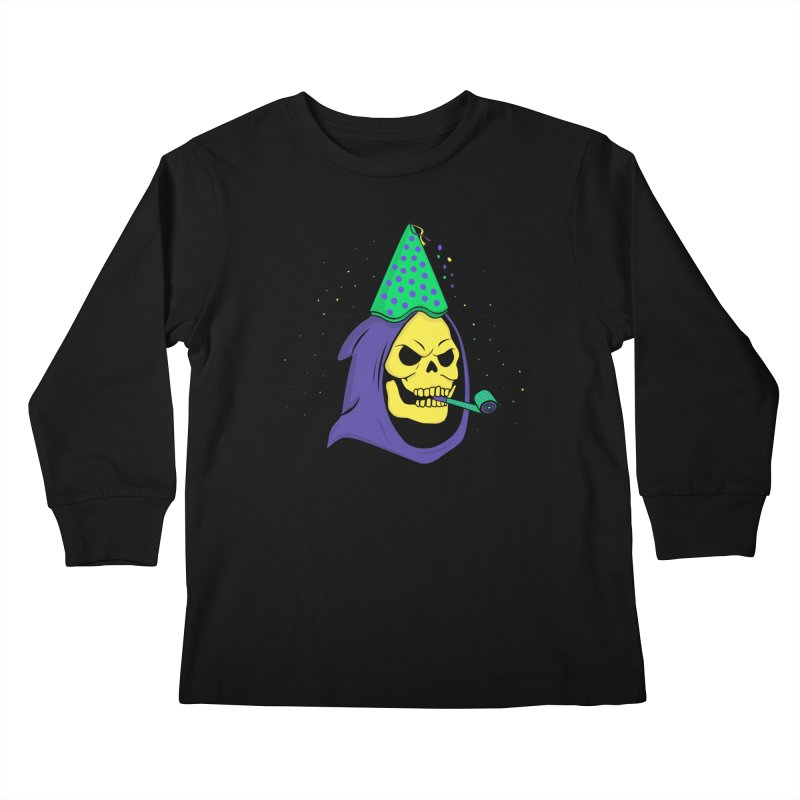 Skull Party Kids Longsleeve T-Shirt by darruda's Artist Shop