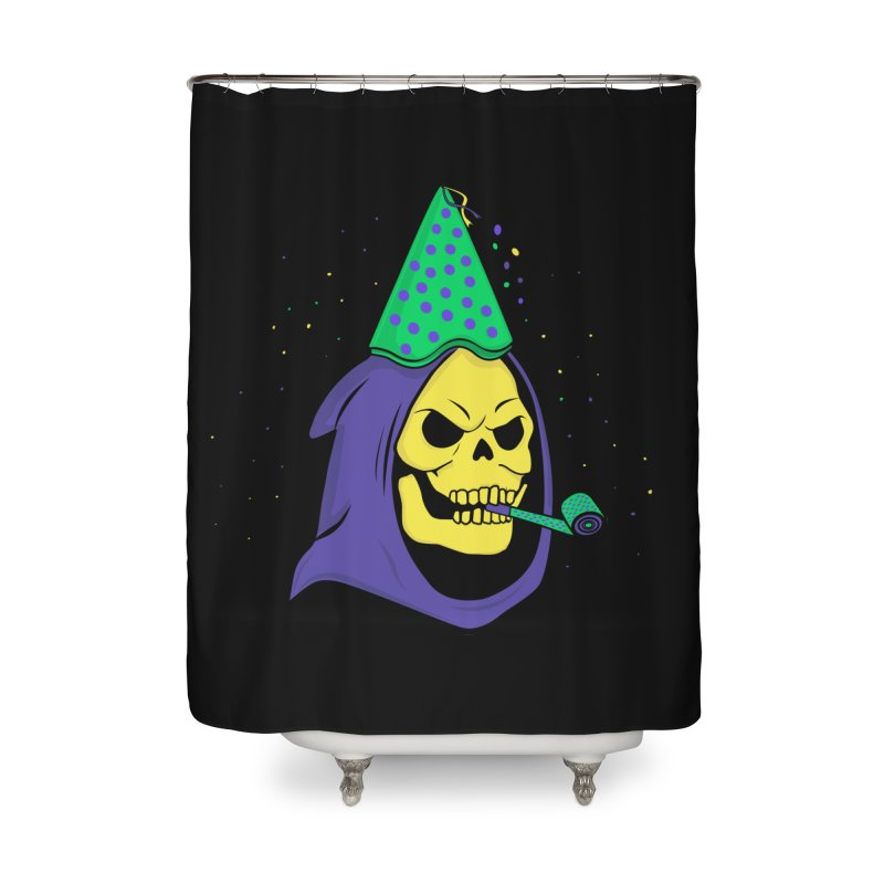 Skull Party Home Shower Curtain by darruda's Artist Shop