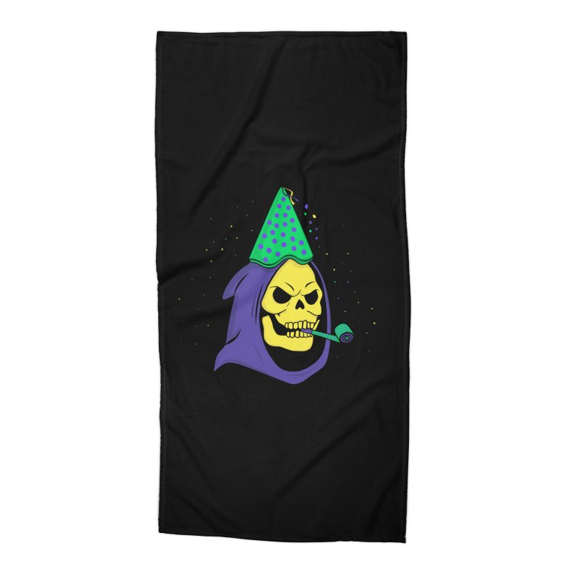 Skull Party Accessories Beach Towel by darruda's Artist Shop