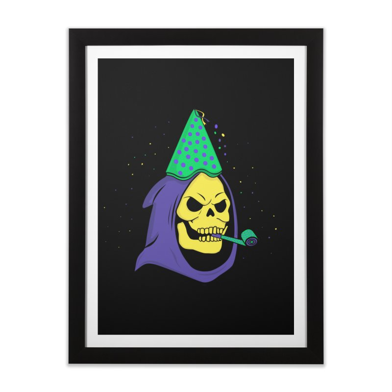 Skull Party Home Framed Fine Art Print by darruda's Artist Shop