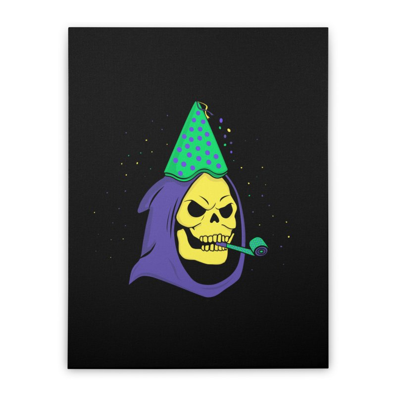 Skull Party Home Stretched Canvas by darruda's Artist Shop