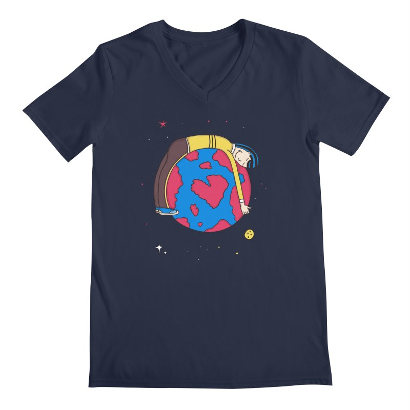 Addict to the Planet Men's V-Neck by darruda's Artist Shop