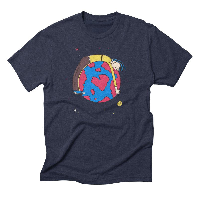 Addict to the Planet Men's Triblend T-shirt by darruda's Artist Shop