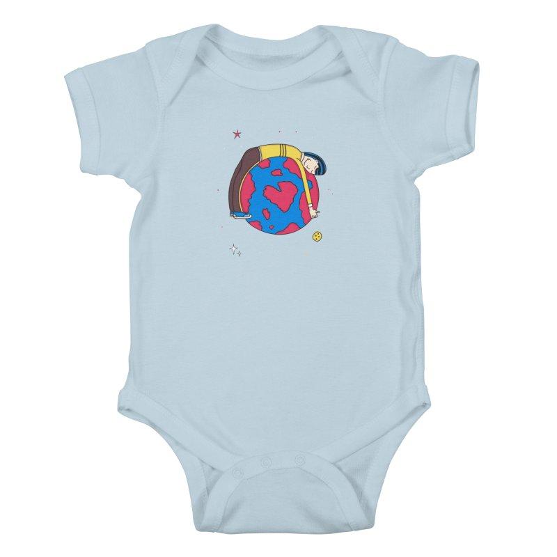 Addict to the Planet Kids Baby Bodysuit by darruda's Artist Shop