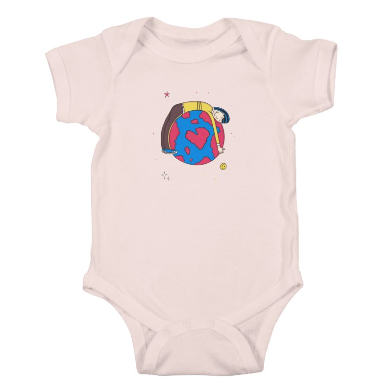 Addict to the Planet Kids Baby Bodysuit by darruda's Artist Shop