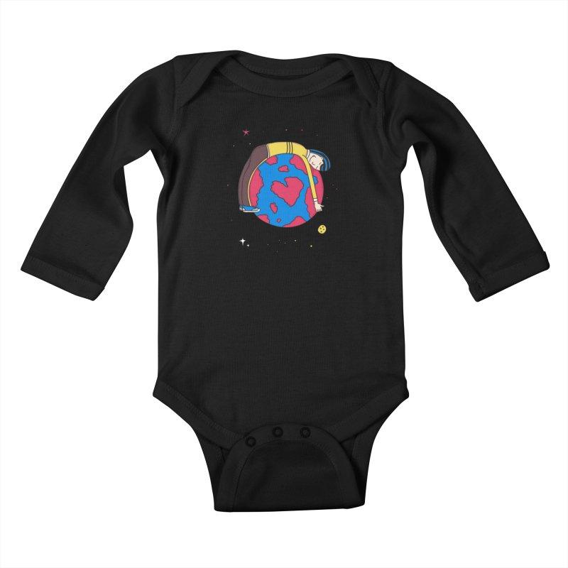 Addict to the Planet Kids Baby Longsleeve Bodysuit by darruda's Artist Shop