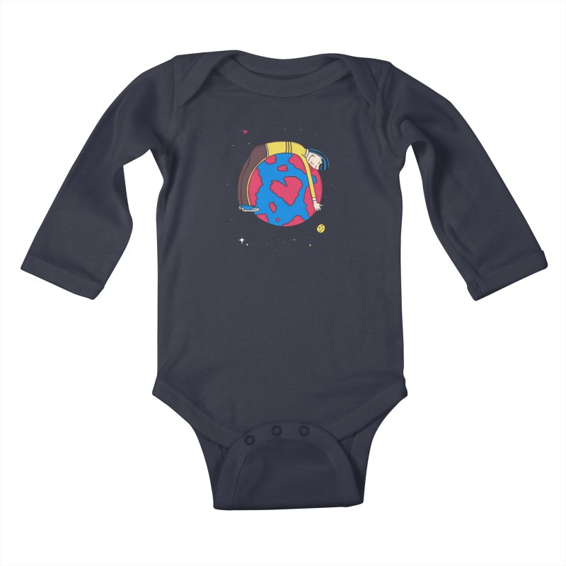 Addict to the Planet Kids Baby Longsleeve Bodysuit by darruda's Artist Shop