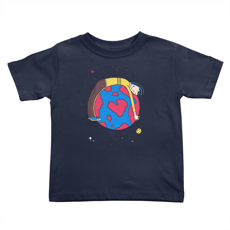 Addict to the Planet Kids Toddler T-Shirt by darruda's Artist Shop