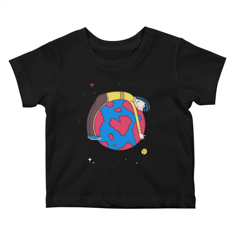 Addict to the Planet Kids Baby T-Shirt by darruda's Artist Shop