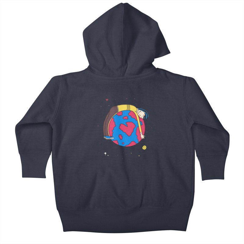 Addict to the Planet Kids Baby Zip-Up Hoody by darruda's Artist Shop
