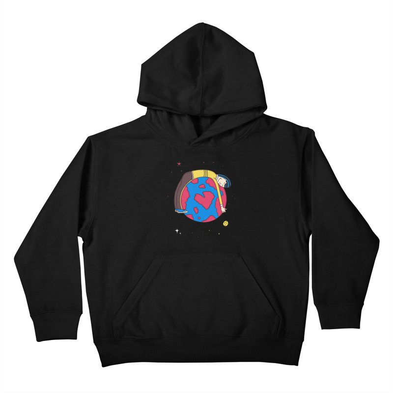 Addict to the Planet Kids Pullover Hoody by darruda's Artist Shop
