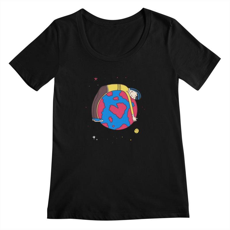 Addict to the Planet Women's Scoopneck by darruda's Artist Shop