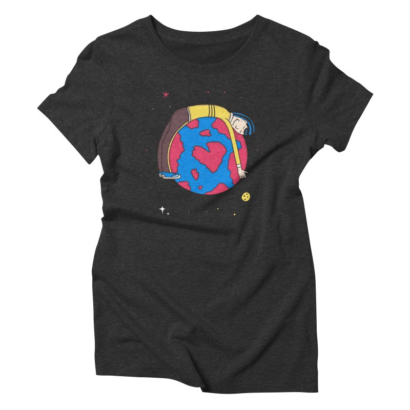Addict to the Planet Women's Triblend T-shirt by darruda's Artist Shop