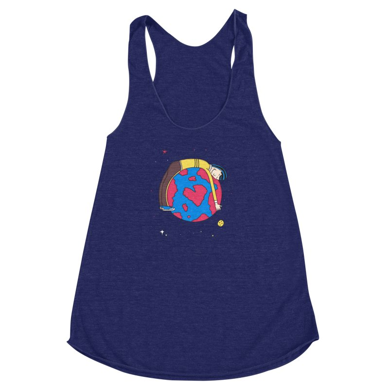 Addict to the Planet Women's Racerback Triblend Tank by darruda's Artist Shop